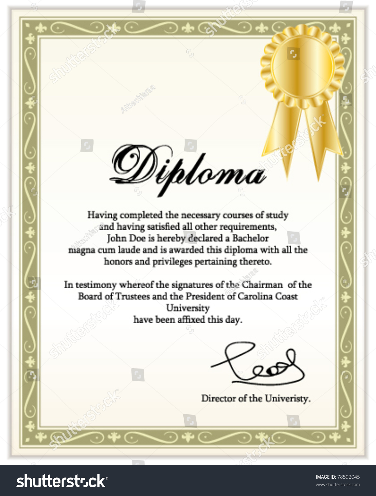 Diploma Template Free abstract diploma template free vector – Graduation Certificate Template Free