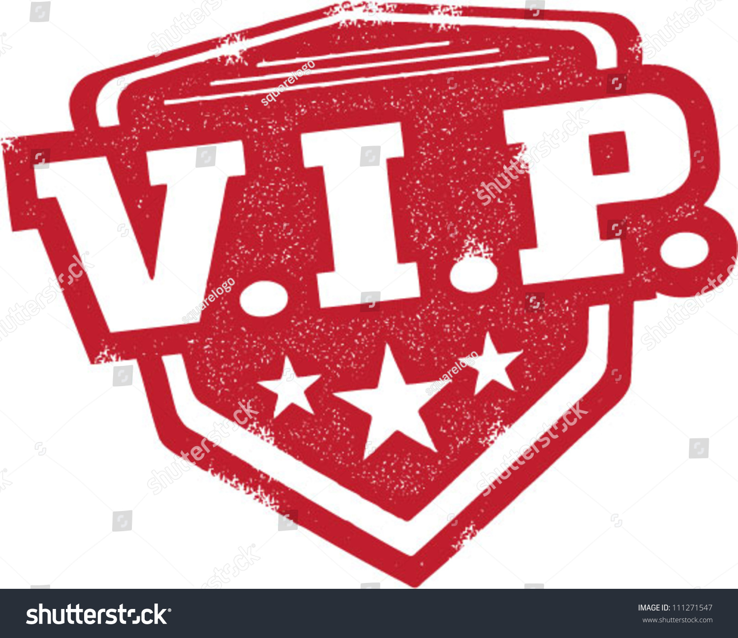 Vip Very Important Person Badge Stamp Stock Vector