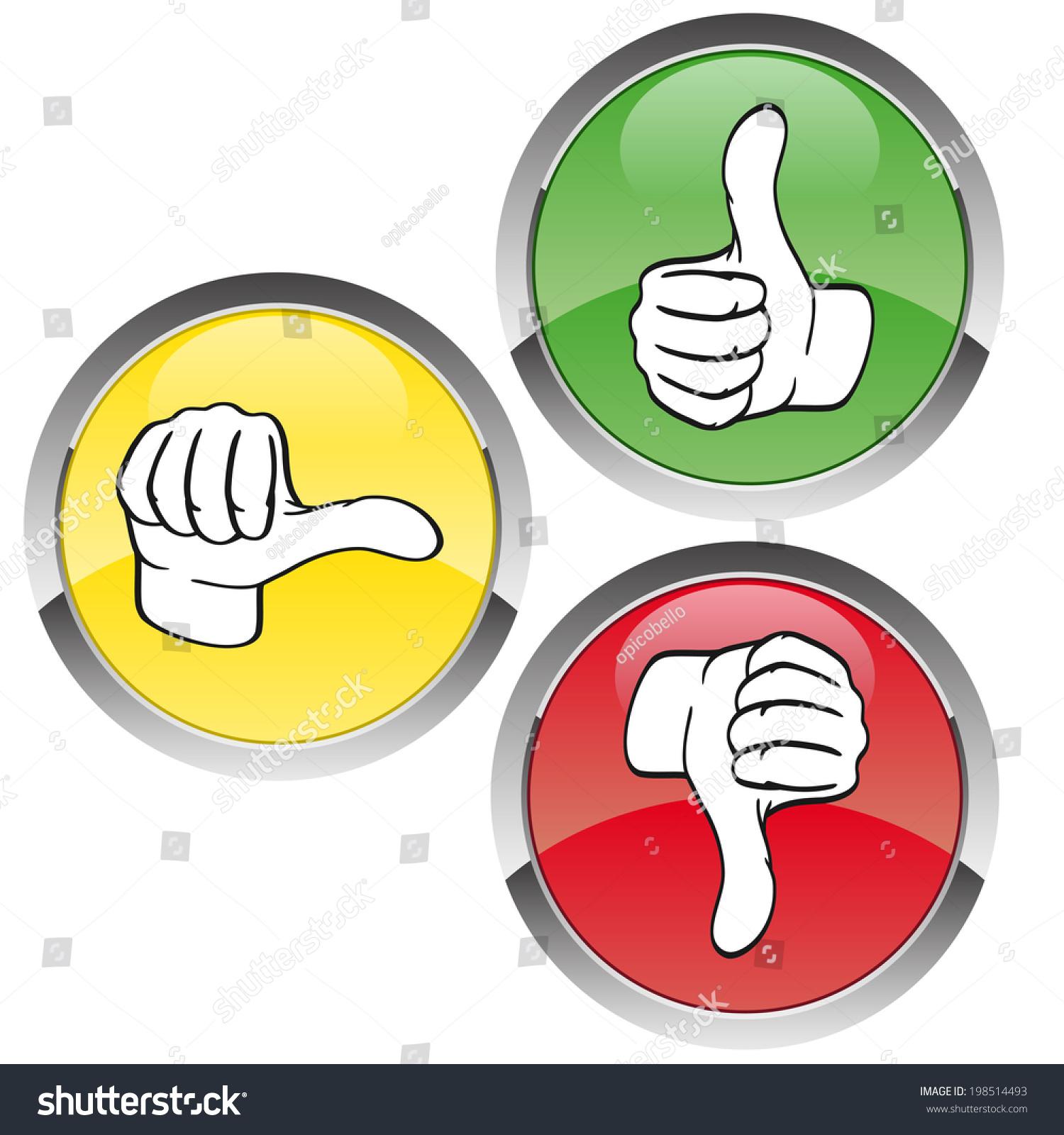 Voting Redyellowgreen Stock Vector