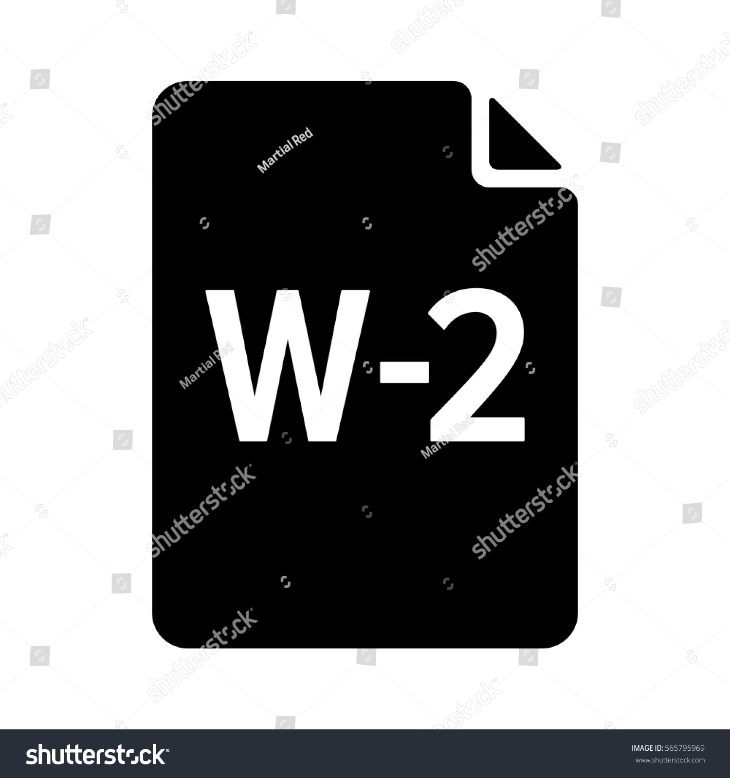 W2 W2 Irs Tax Form Document Stock Vector