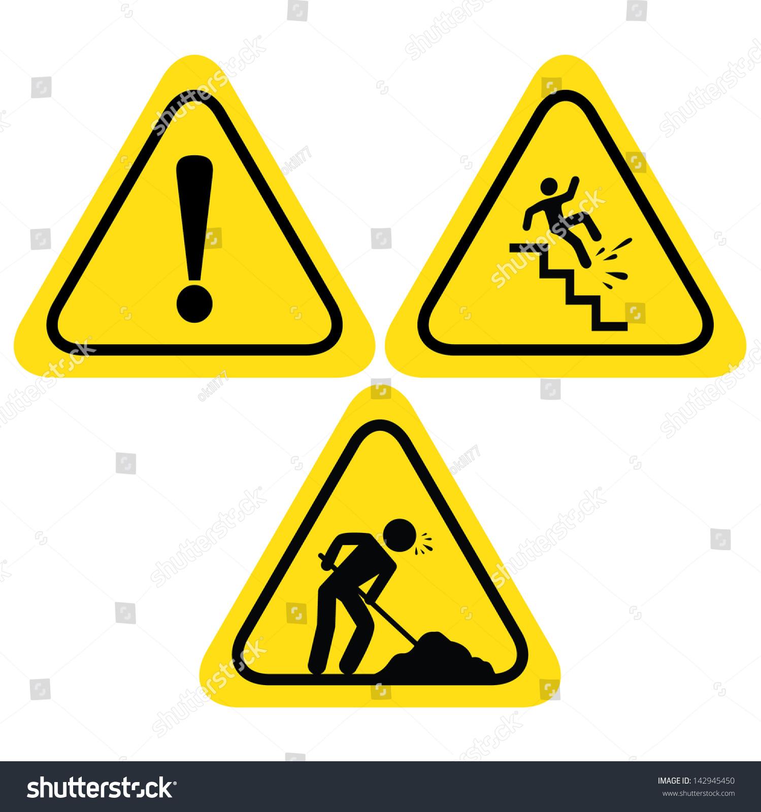 Warning Safety Signs Under Construction Road Sign Hazard