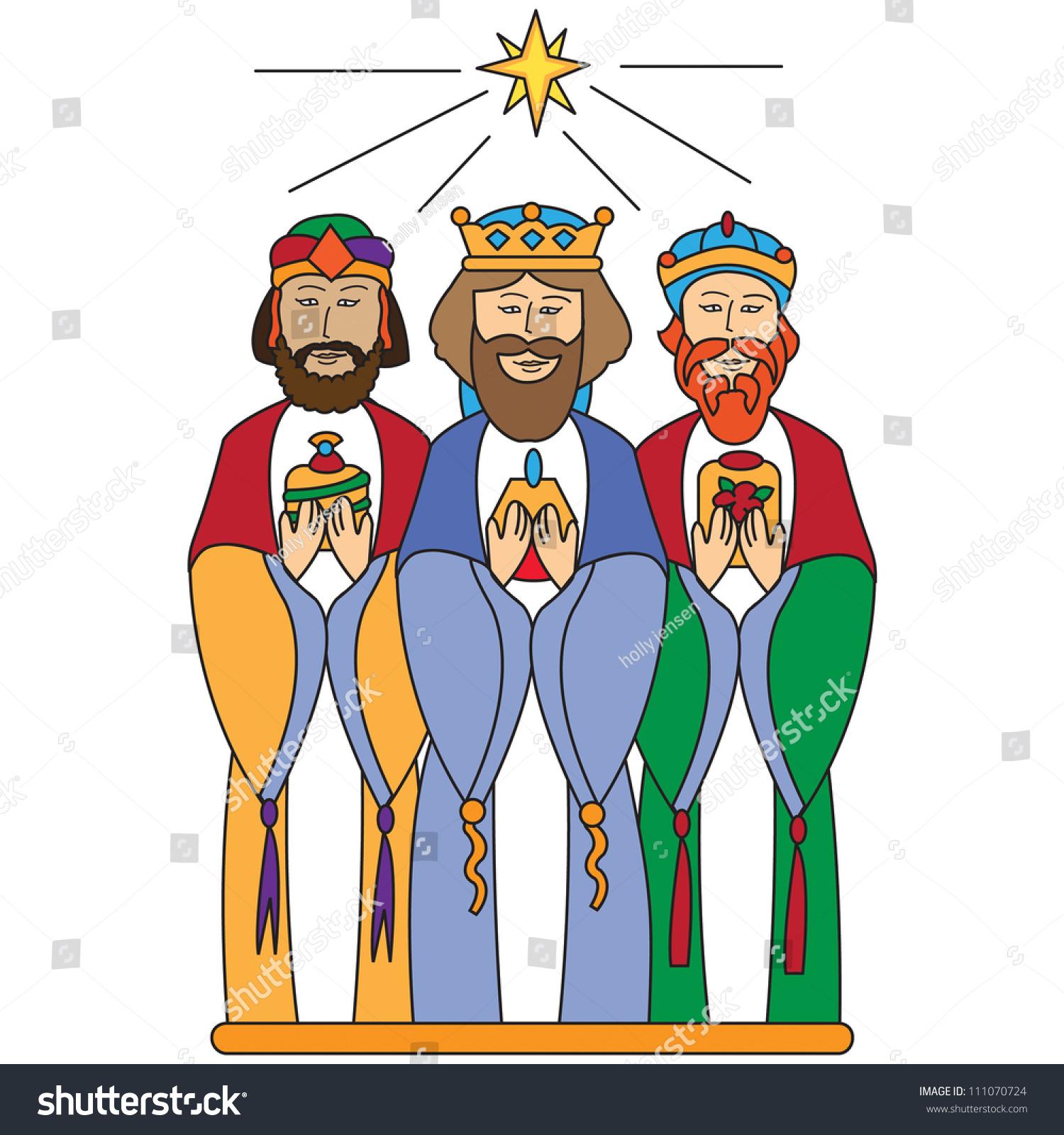 We Three Kings Stock Vector