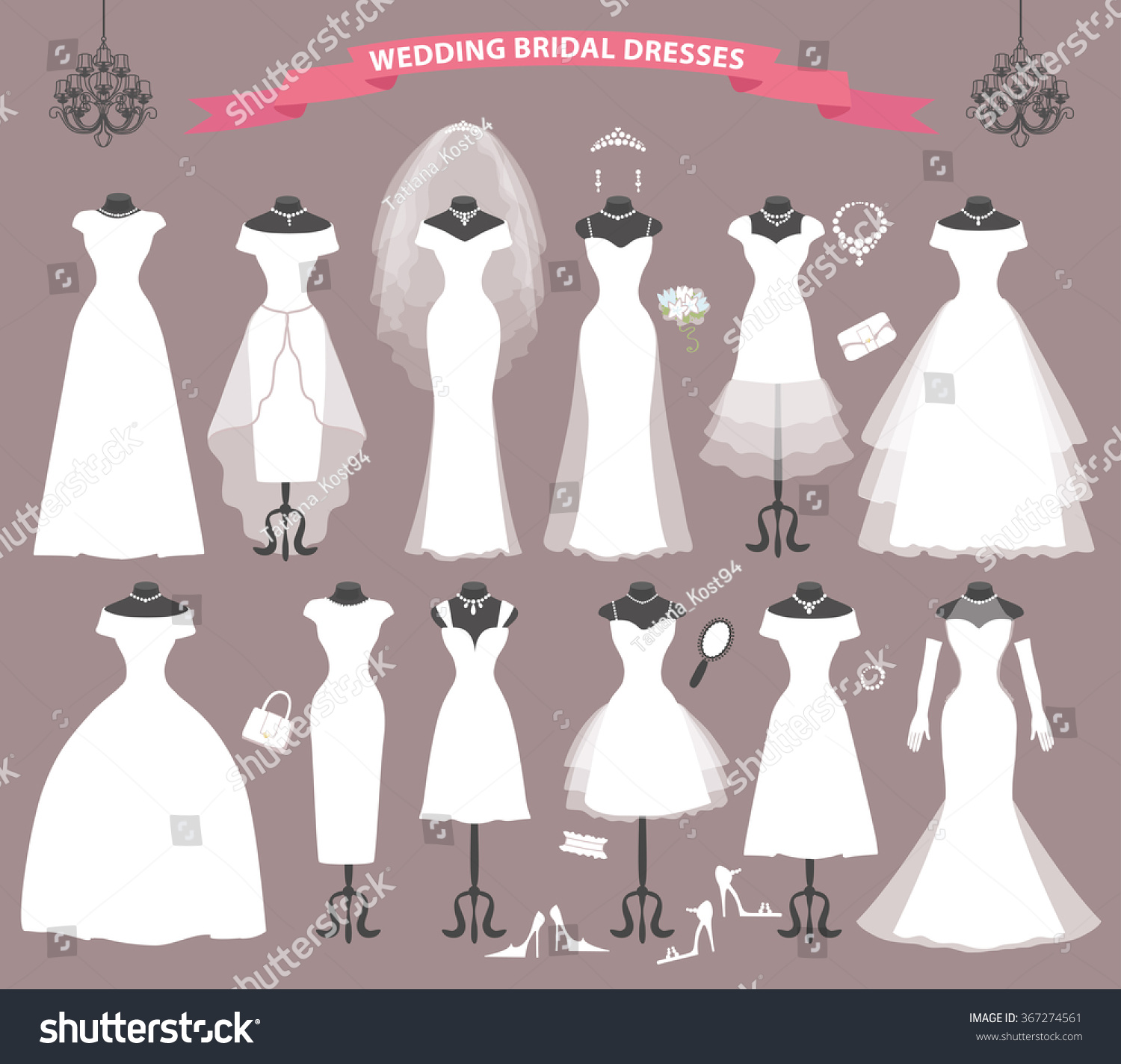 ab3c449309c Different Styles Of Wedding Dresses. these are different types of ...