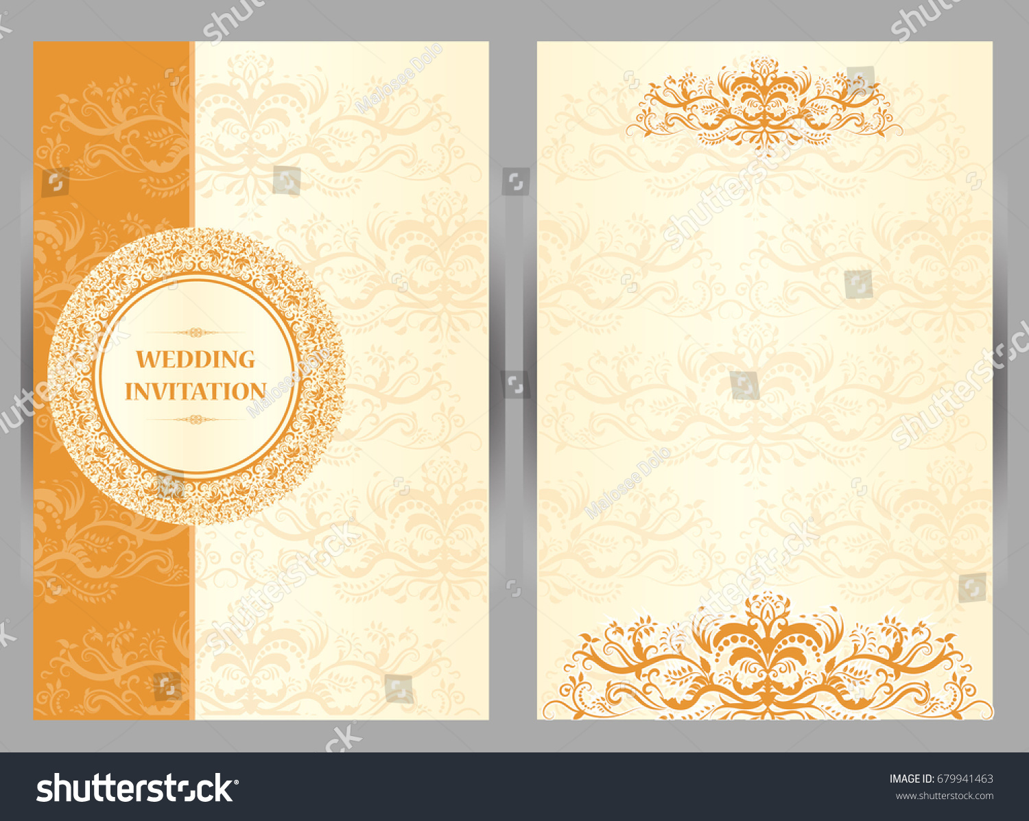 https www shutterstock com image vector wedding invitation card abstract background islam 679941463
