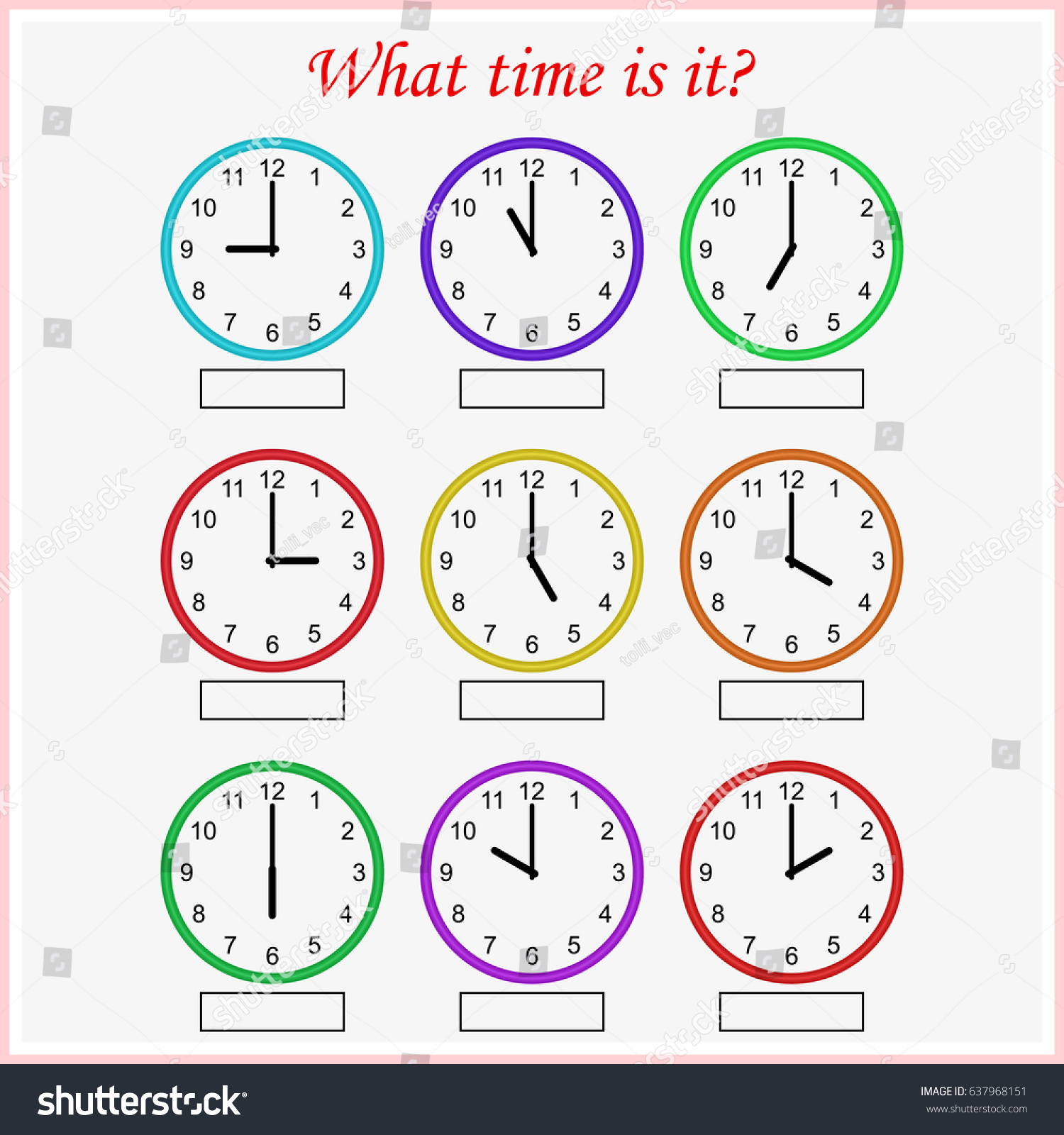 Make Your Own Clock Printable Local Watch Zone