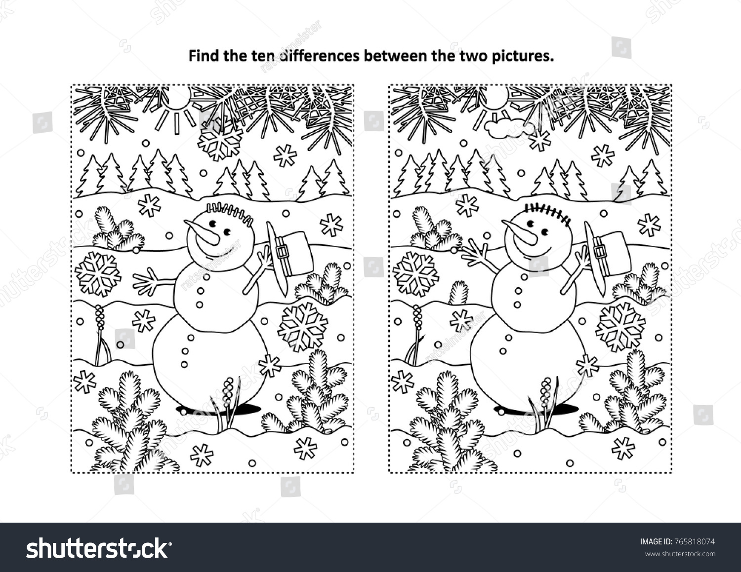 Winter Holidays New Year Christmas Themed Stock Vector