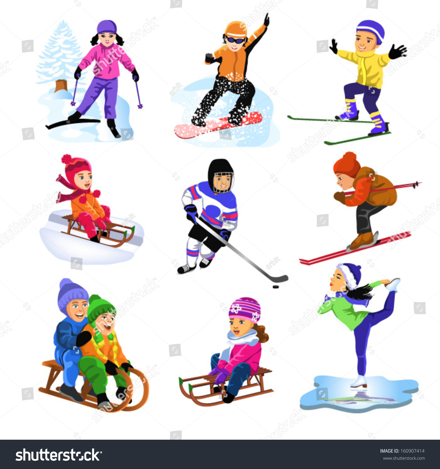 Winter Sports Stock Vector