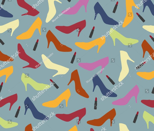 Woman Shoes Background Pattern Design For Wallpaper Decoration And Design Needs