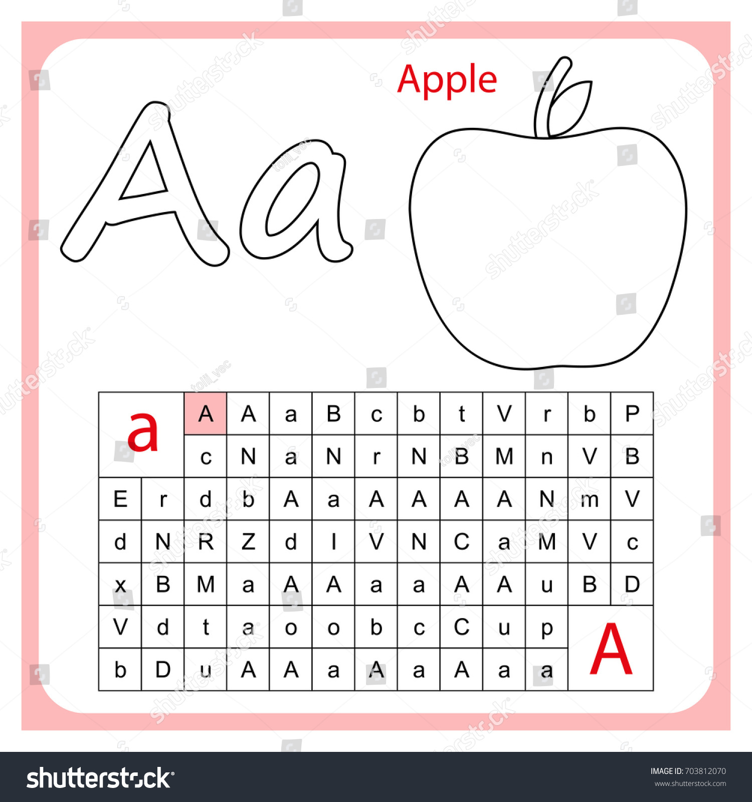 Worksheet Learning Alphabet Worksheet Preschool Children