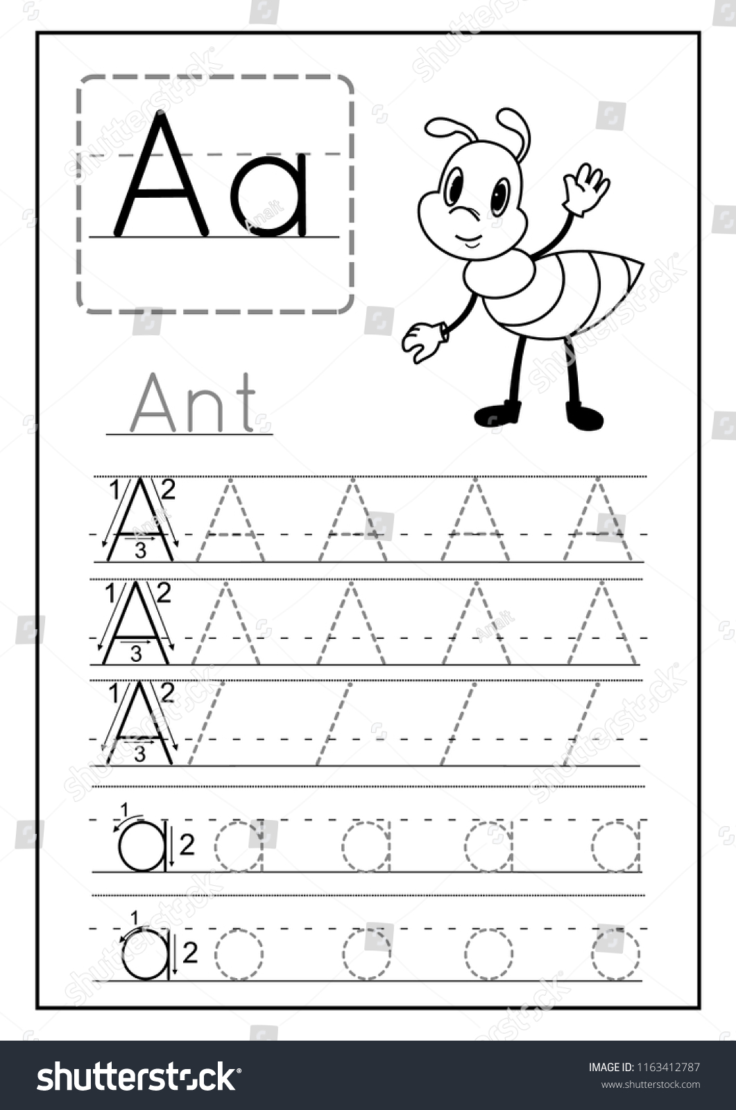 A For Ant Worksheet