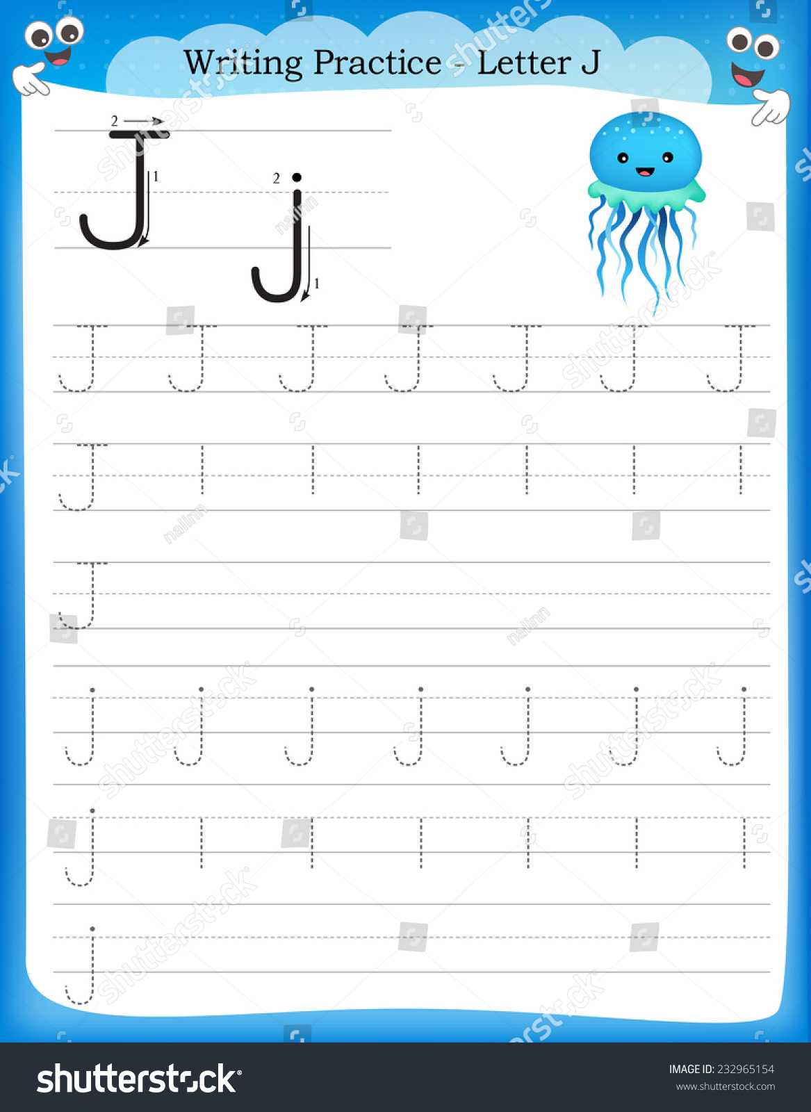 Handwriting Worksheets Letter J