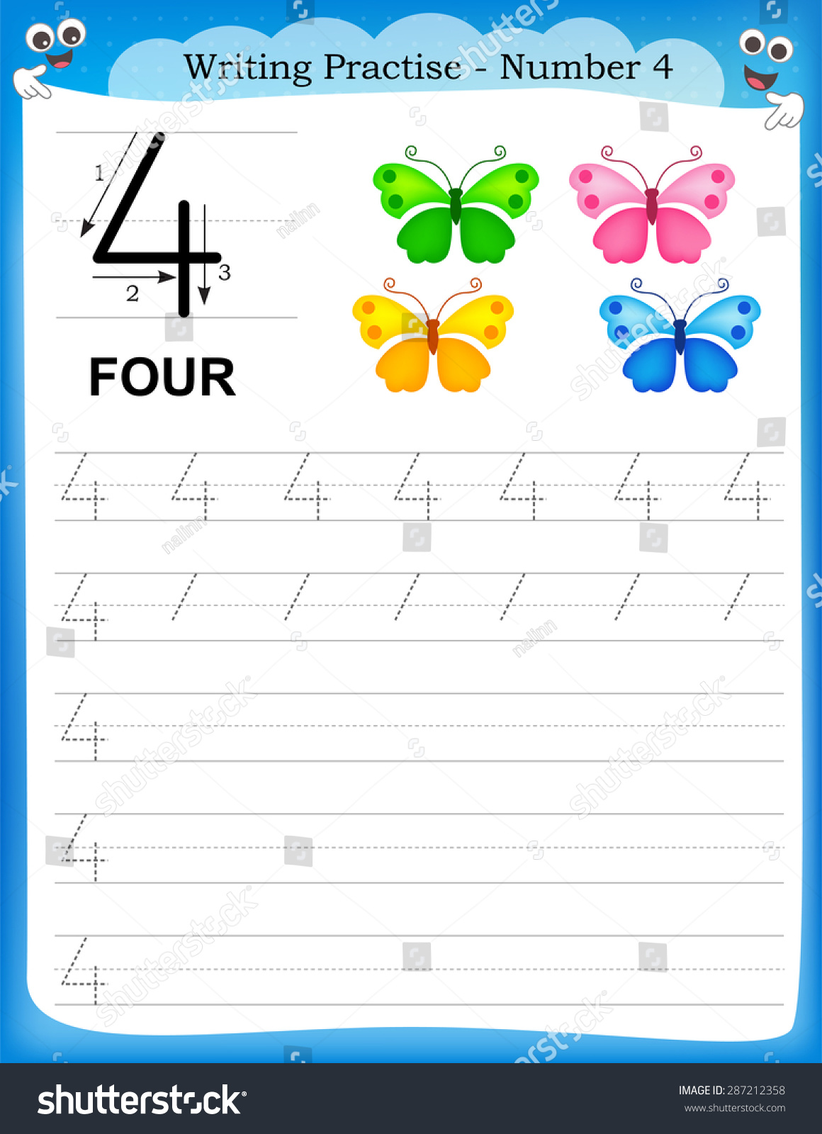 4 Seasons Worksheet Printable