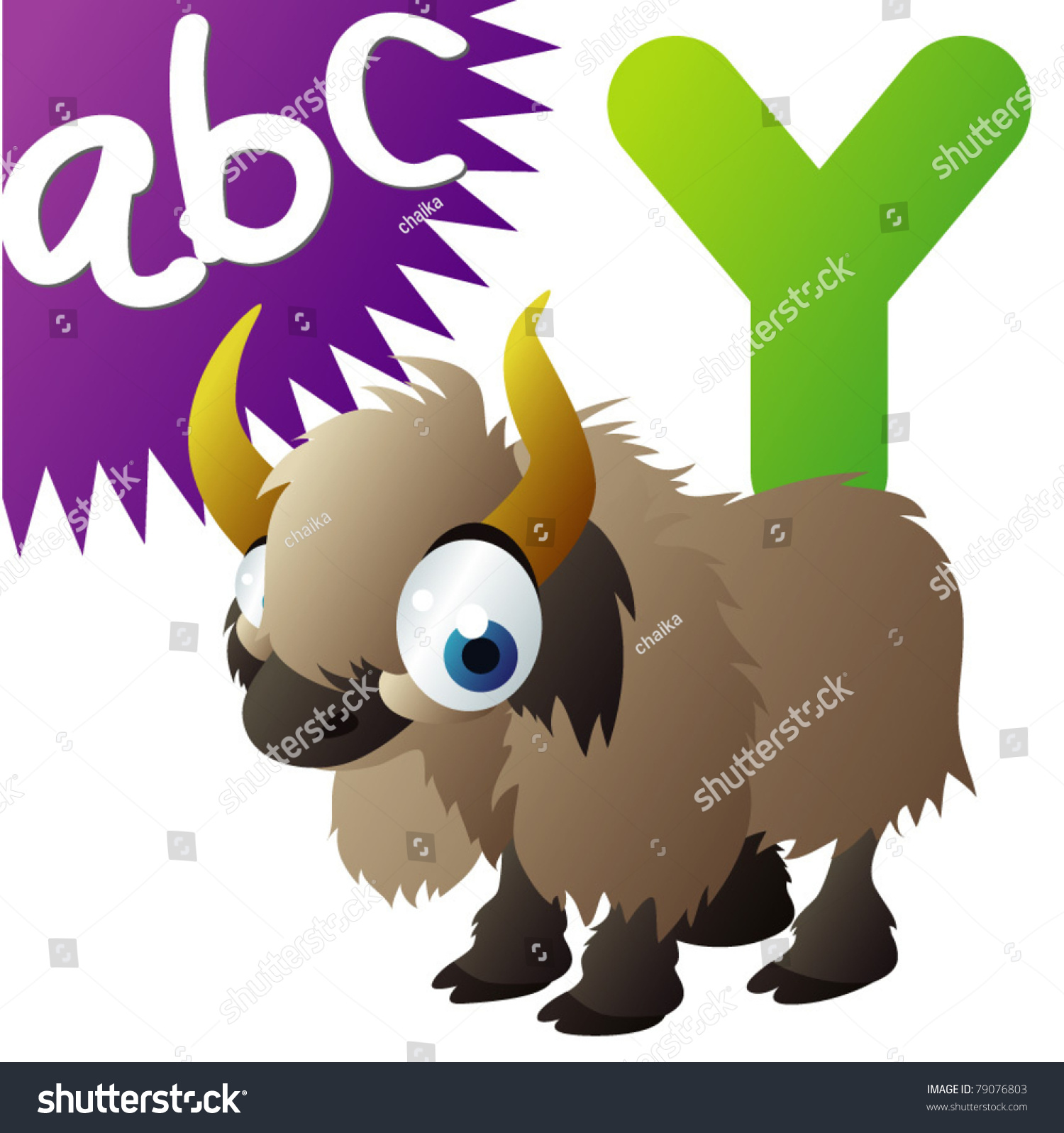 Y Yak Stock Vector