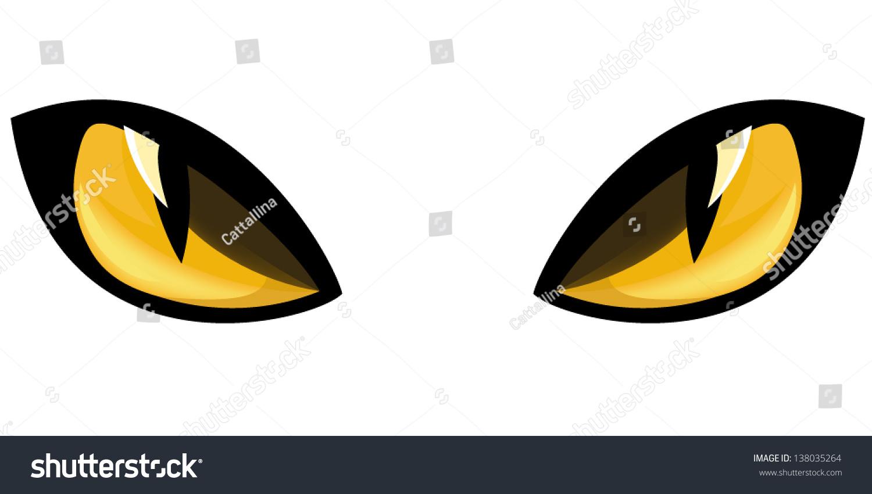 Yellow Staring Cat Eyes Vector Illustration Stock Vector ... (1500 x 850 Pixel)