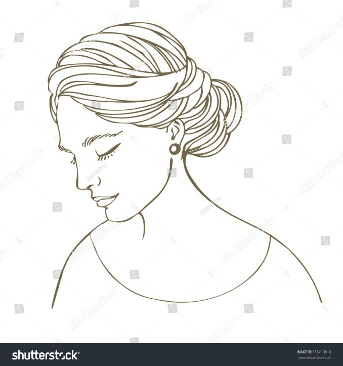 young woman beautiful bridal hairstyle vector stock vector