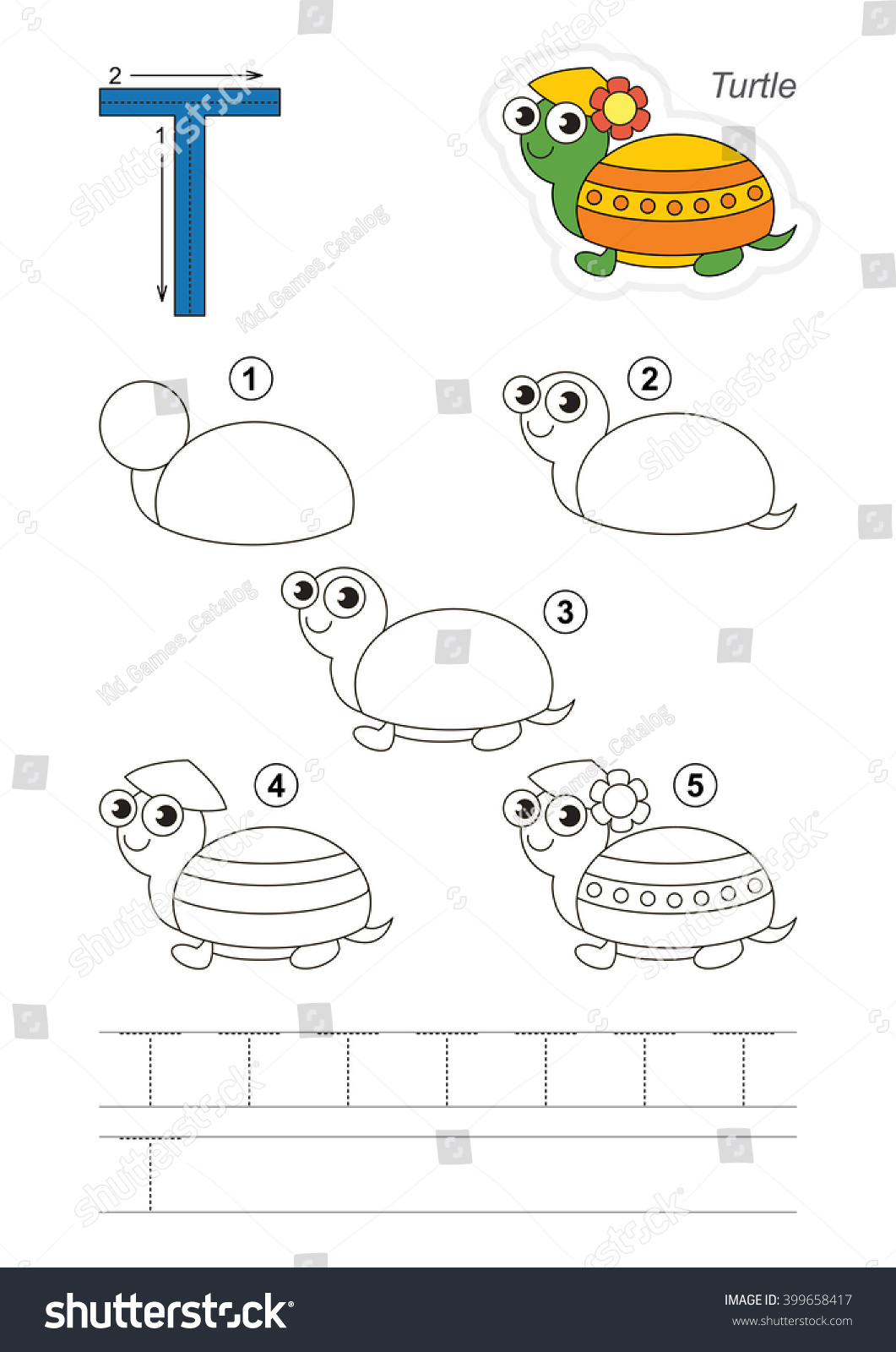 Zoo Alphabet Complete Learn Handwriting Drawing Stock