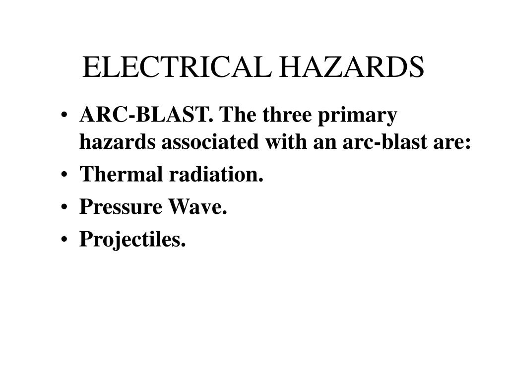 Electrical Explosions And Arcing