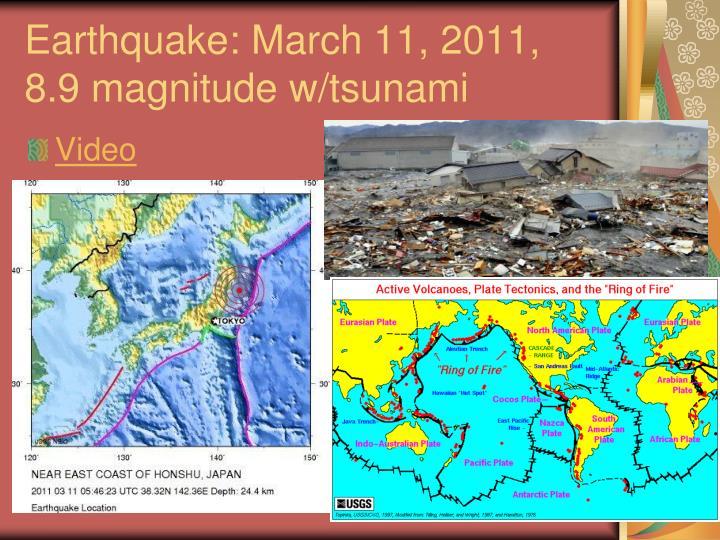 2011 Honshu Earthquake Japan March