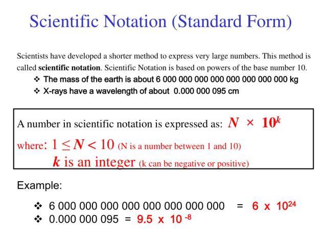 PPT - Scientific Notation (Standard Form) PowerPoint Presentation
