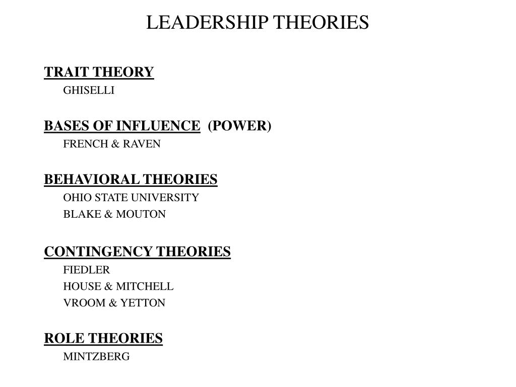 There Live To Ready Behavioral Leadership Theory