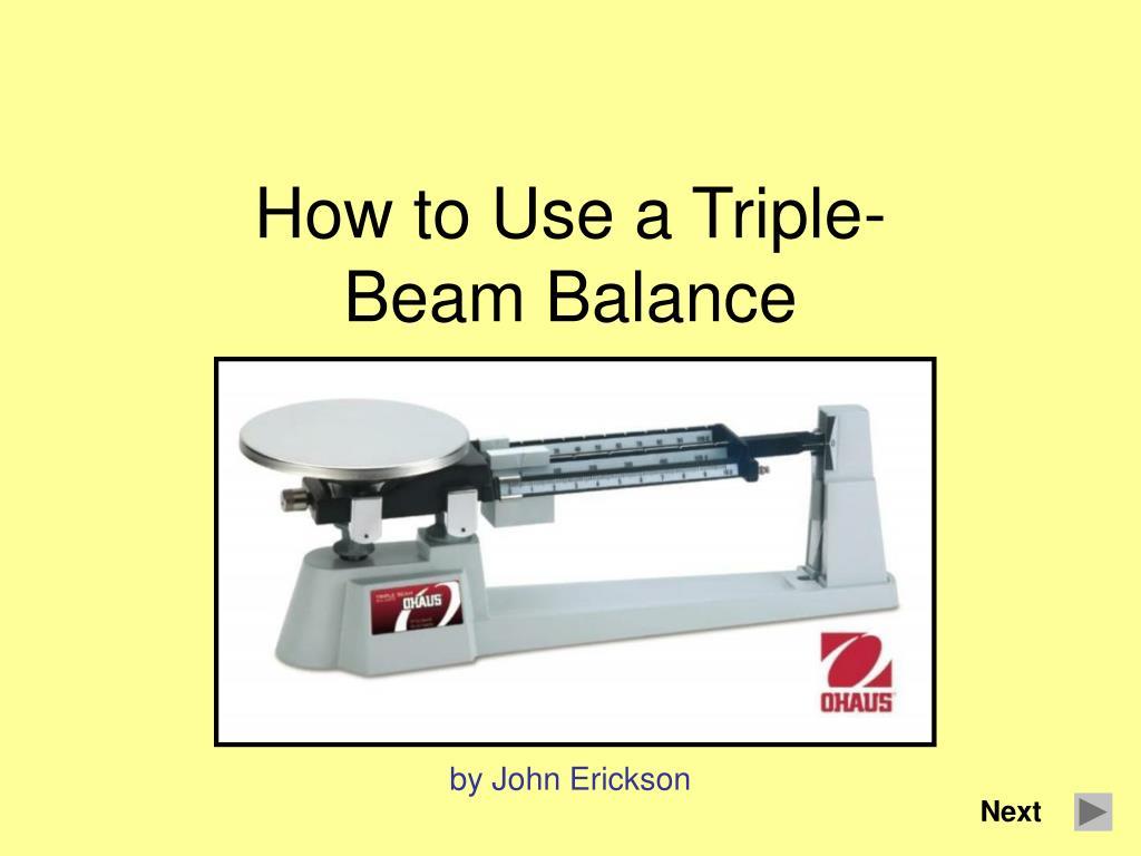 Triple Beam Balance Online