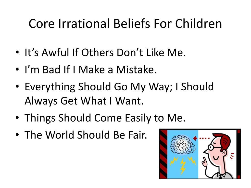 Changing Core Beliefs Worksheet