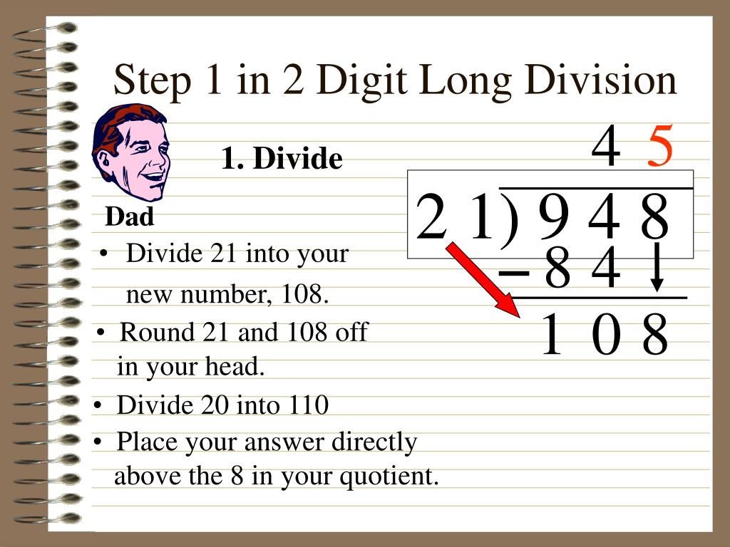 Worksheet Long Division 1 Digit