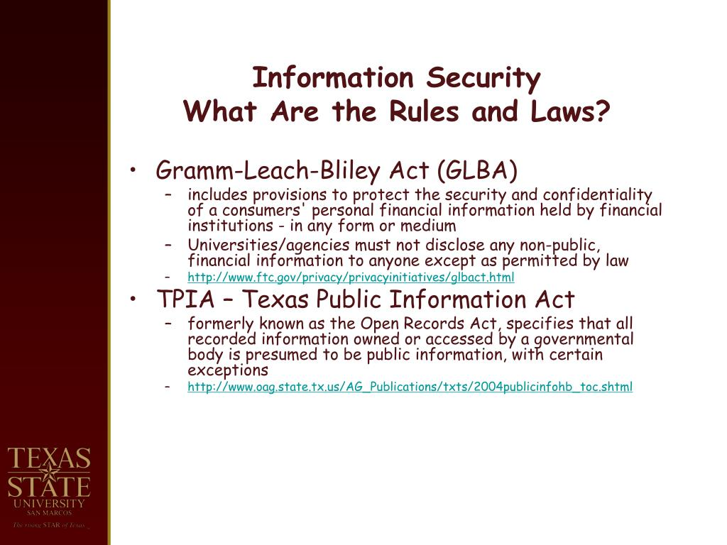Information Security Rules