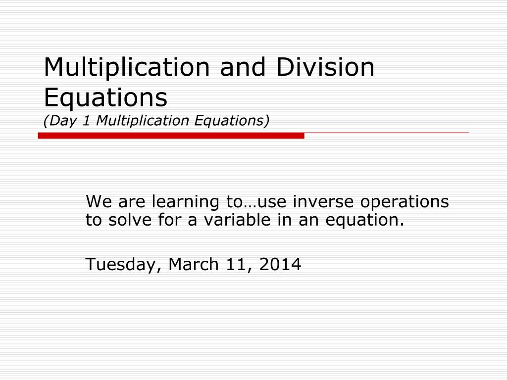 How To Solve Algebraic Division Equations