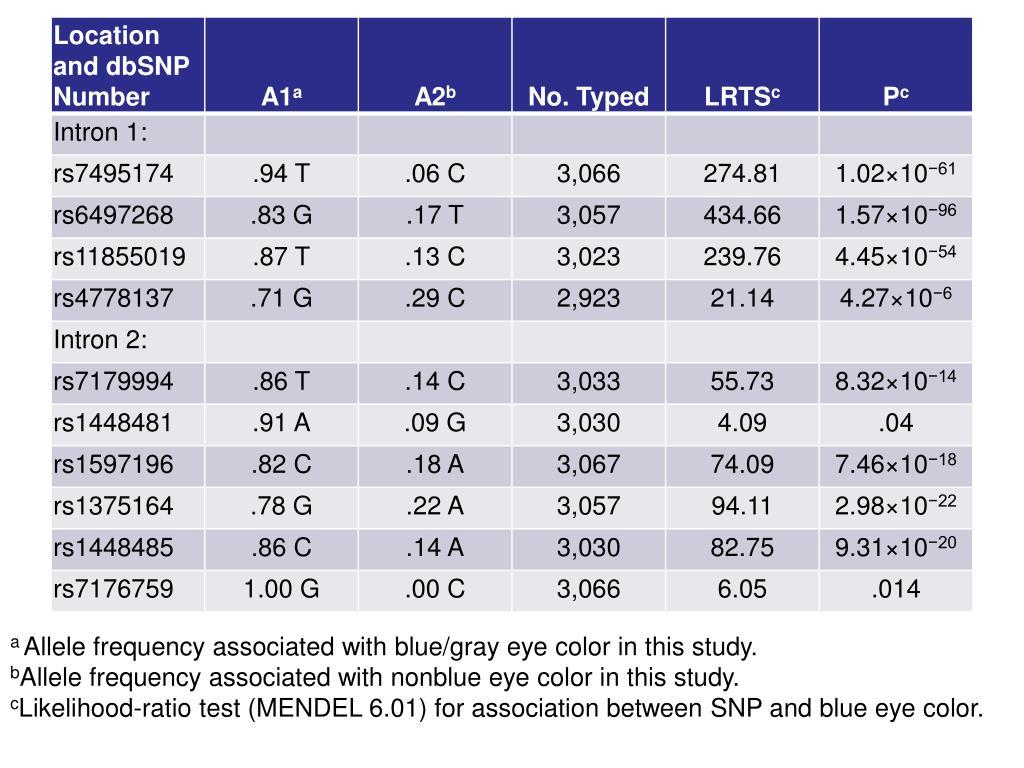 Eye Color Ratio