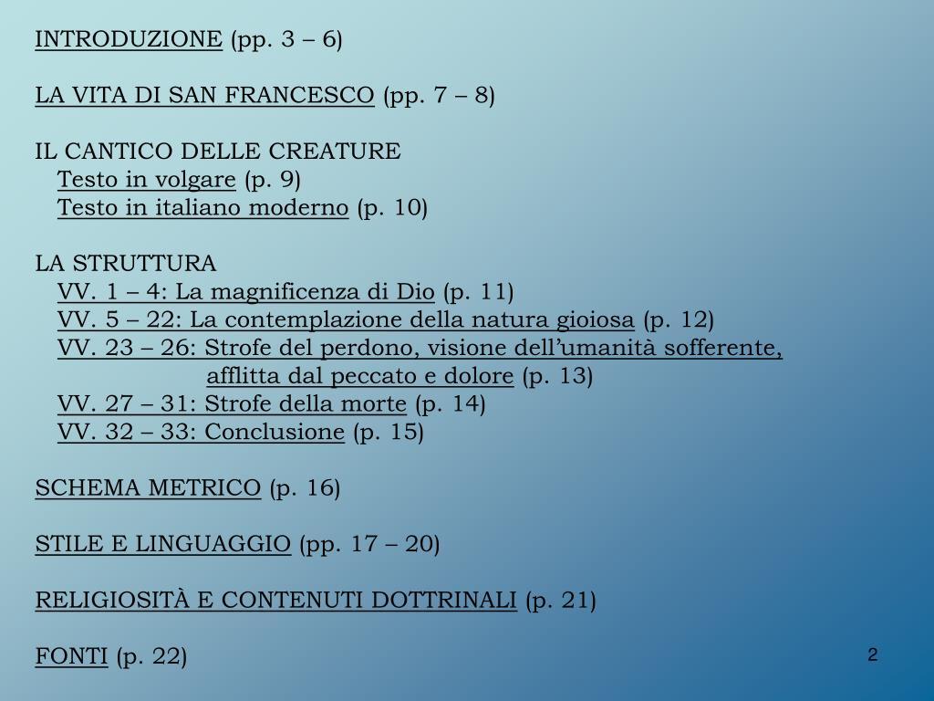 Ppt Il Cantico Delle Creature Di San Francesco Dassisi