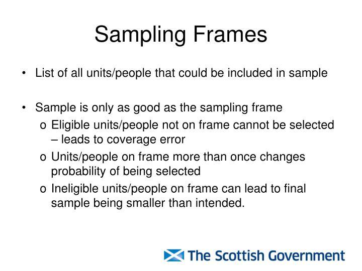 Examples Of Sampling Frames | Framess.co