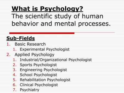 PPT - What is Psychology? The scientific study of human ...