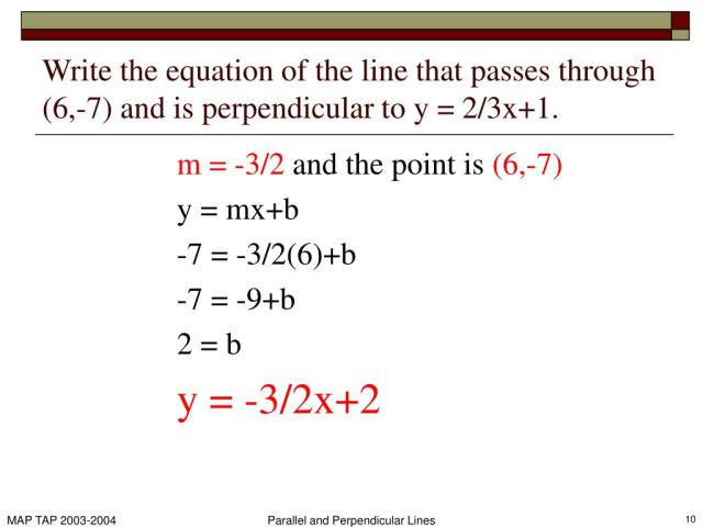 PPT - 19.19 Parallel and Perpendicular Lines PowerPoint Presentation