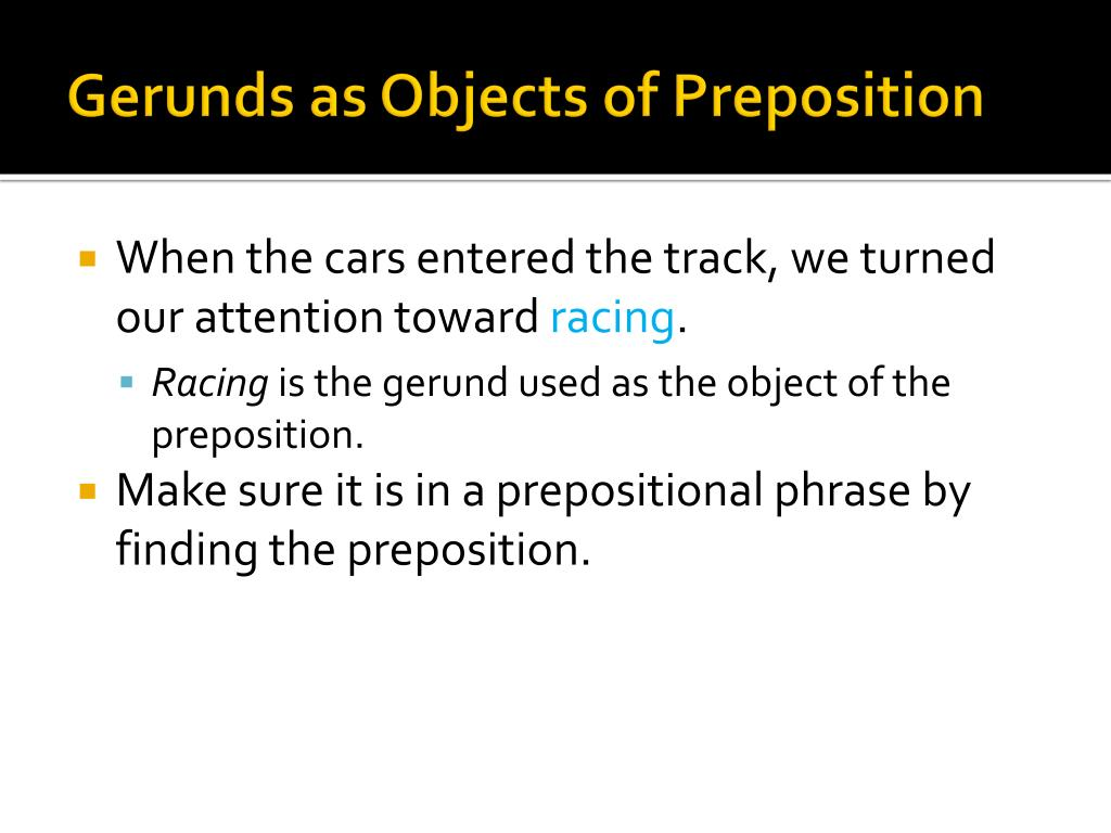 Gerund Object Of Prepositional Phrase Modifying The Subject