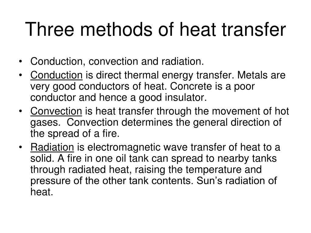 Heat Transfer Three Methods Of Heat Transfer