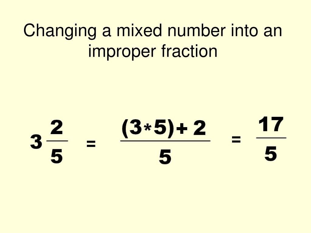 How To Turn Improper Fractions Into Mixed Numbersnvert