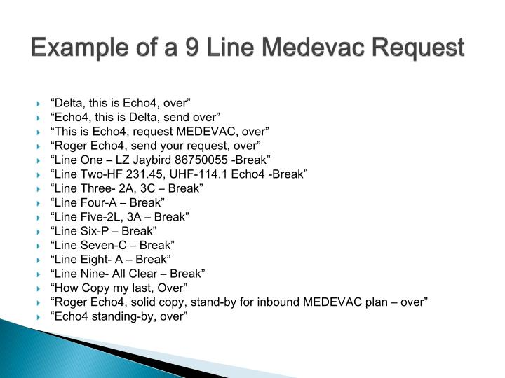 9 line medevac example 9 Line Medevac Card Example | Poemview.co