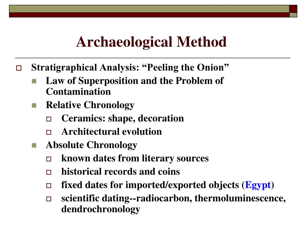 Relative Dating Dendrochronology For Kids