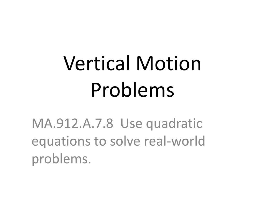 Vertical Motion Equation