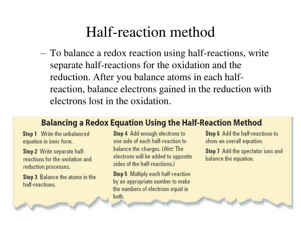Balancing Redox Reactions Worksheet Acid Solutions