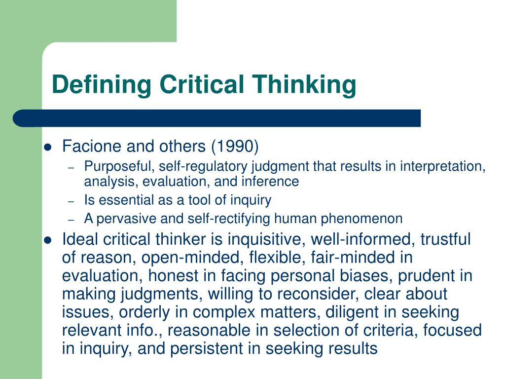 Process Of Critical Thinking Ppt Homework Example
