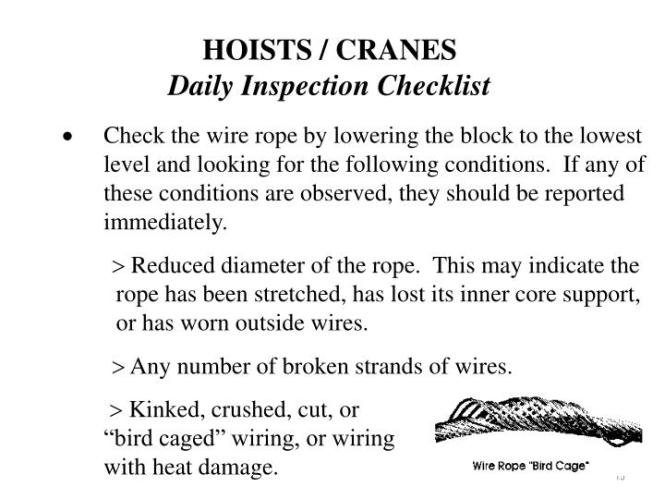 Crane Wire Rope Inspection - The Best Crane Of 2018