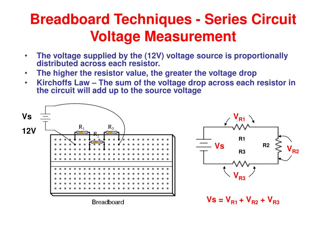 Kirchoffs Voltage Law Drop In A Series Circuit