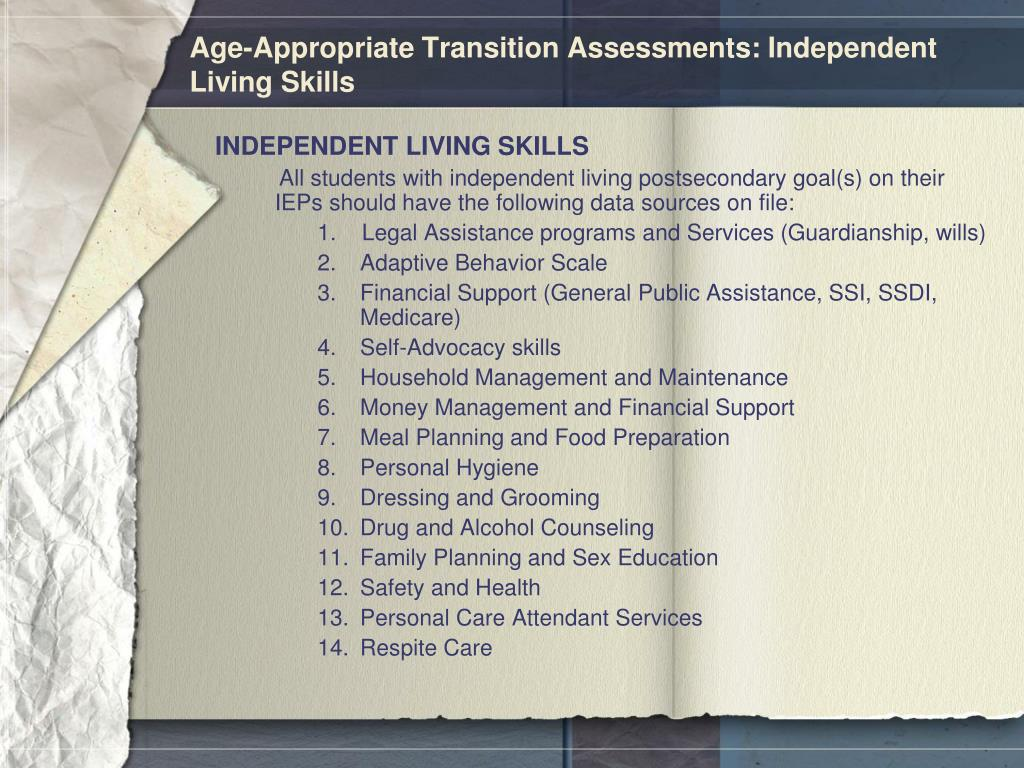 Independent Living Skills List Quotes Of The Day