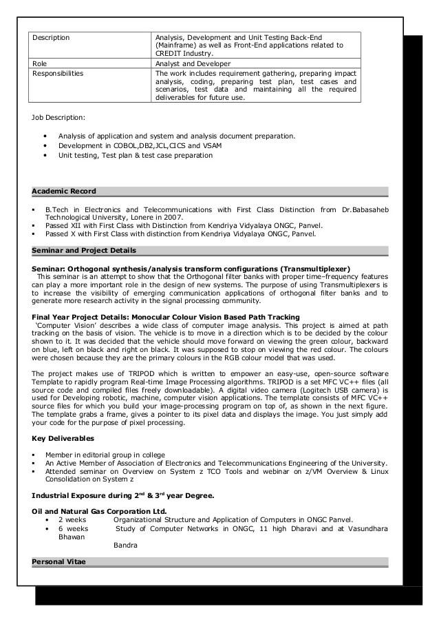 resume nimisha jha mainframe developer 6 years 5 months
