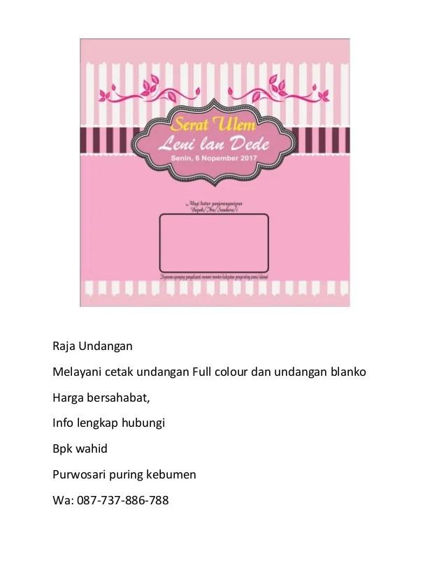 087 737 886 788 Produsen Undangan Pernikahan Bahasa Jawa Di Bandar La