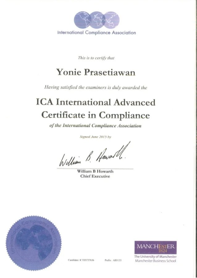 Ica International Advanced Certificate In Compliance