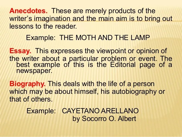 And Anecdote Definition Examples