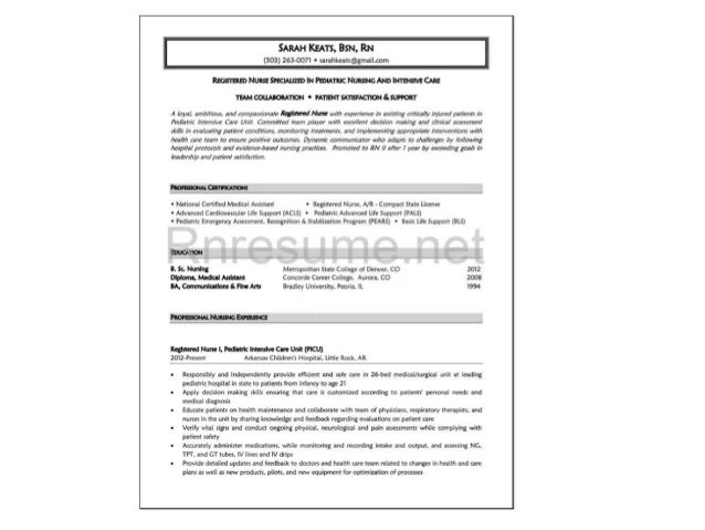 New Grad Nursing Resume Clinical Experience Google Search Rn